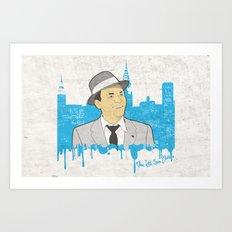 These Litte Town Blues Art Print