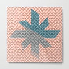 Star Spinner | Minimalist | Abstract | Modern | Shapes | Geometrix Metal Print