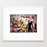 kill bill Framed Art Prints featuring Kill Bill by Joe Badon