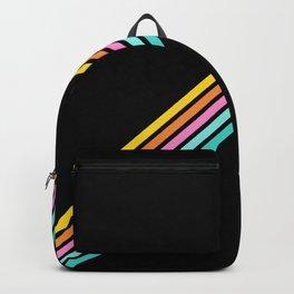 Minimal Abstract Retro Stripes 80s Style - Bakunawa Backpack