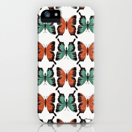 Butter - colorful butterfly pattern iPhone Case