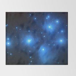 "The Pleiades (""The Seven Sisters"") (NASA/ESA/Palomar Observatory) Throw Blanket"