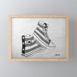 black and white rock and roll Framed Mini Art Print