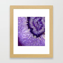 Purple Crystal Framed Art Print