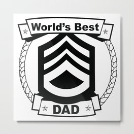WORLD'S BEST DAD Abstract Art Metal Print