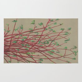 Red twigs Rug