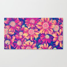 Shiny Flowers Canvas Print