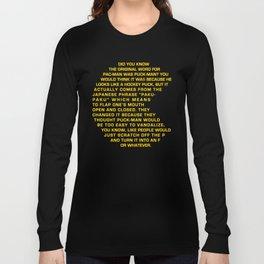 Puck-Man Long Sleeve T-shirt