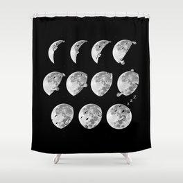 lunar phases of sleep Shower Curtain