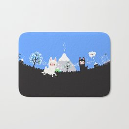 Run alpaca, run! Bath Mat