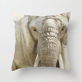 Elephant Photography | Wildlife Art | African | Nature | Animal Throw Pillow