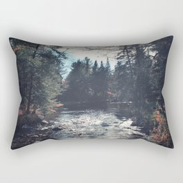 forest by the river Rectangular Pillow