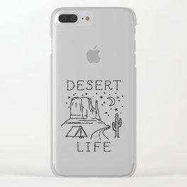 Desert Life Clear iPhone Case
