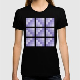 Four Shades of Lavender Square T-shirt