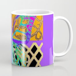 Lavender-Gold Turquoise Butterfly Coffee Mug