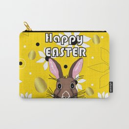 Happy Easter Golden Eggs Carry-All Pouch