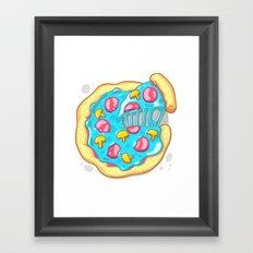 Blue Pizza Framed Art Print