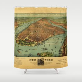 New York by Currier & Ives (1879) Shower Curtain