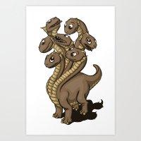 hydra Art Prints featuring Hydra by Jada Fitch
