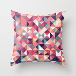 Lovely Geometric Background Throw Pillow