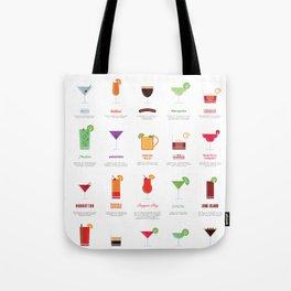 Classic Cocktails Print Art Poster | Drink Recipes | Bar Poster | Bar Art | Kitchen Art | Alcohol Tote Bag