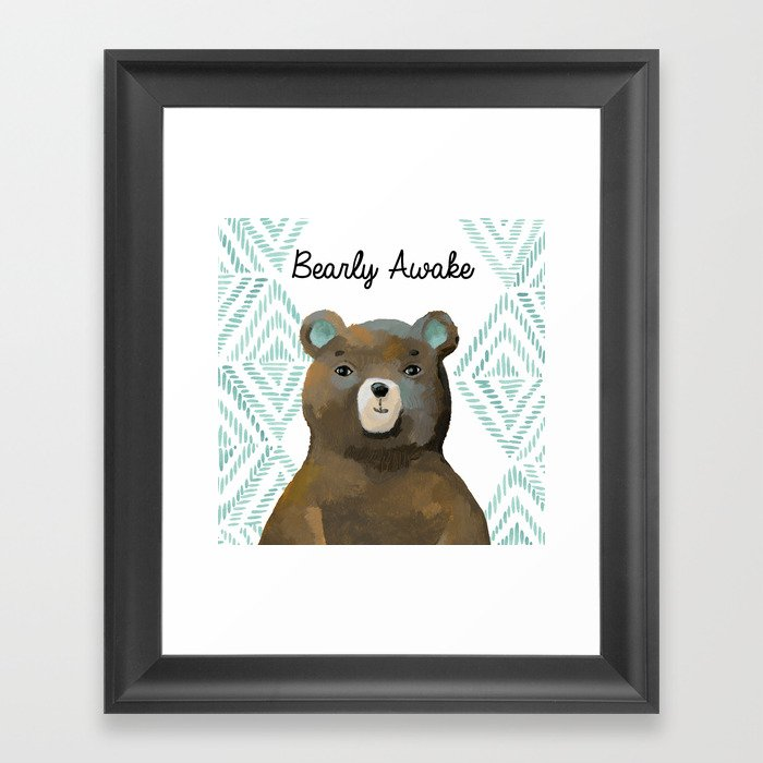 Bearly Awake Gerahmter Kunstdruck