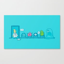 Strange day at the X-ray room Canvas Print