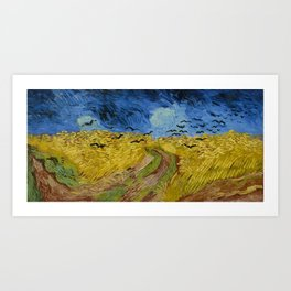 Vincent Van Goh Wheatfield With Crows Art Print