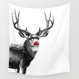 Christmas - Red Nose Reindeer Wall Tapestry