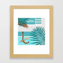 Big Cat on Vacation I. Framed Art Print