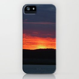 Lindisfarne castle sunset iPhone Case