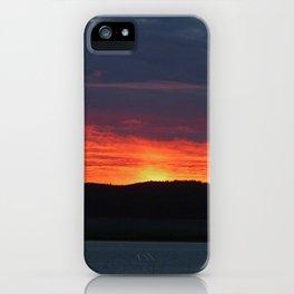 Lindisfarne castle sunset iPhone Case