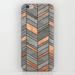 Abstract Chevron Pattern - Concrete and Copper iPhone Skin