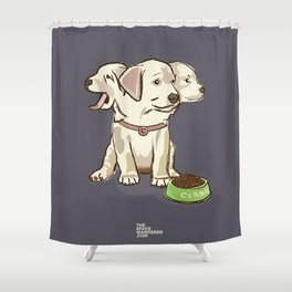 Cerberus Puppy Shower Curtain