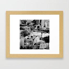 Stacks Framed Art Print