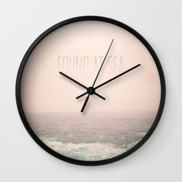 Found At Sea Wall Clock