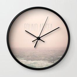 Found At Sea Wall Clock