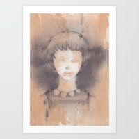 lucy Art Prints featuring Lucy by Shiro