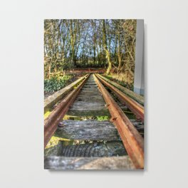 Railway Tracks Metal Print