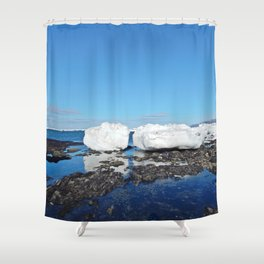 Icebergs Beached by the tides Shower Curtain