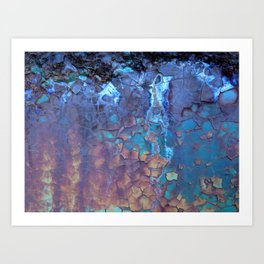 Waterfall. Rustic & crumby paint. Art Print