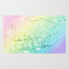 Van Gogh Almond Blossoms : Pastel Rainbows Rug