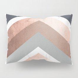 Grey, Bronze Chevron Home Decor Design Pillow Sham