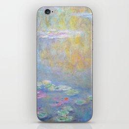 Monet water lilies 1908 iPhone Skin