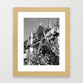 Blossoms, Spires and Gargoyles Framed Art Print