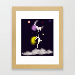 escaping to spaces Framed Art Print