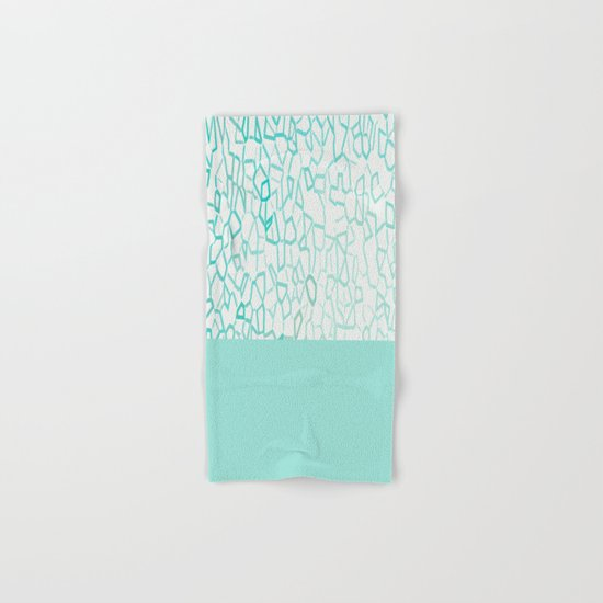 Abstract on Turquois Hand & Bath Towel
