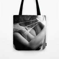 lace Tote Bags featuring Lace by Red Drago