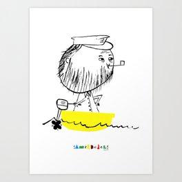A man in a boat Art Print