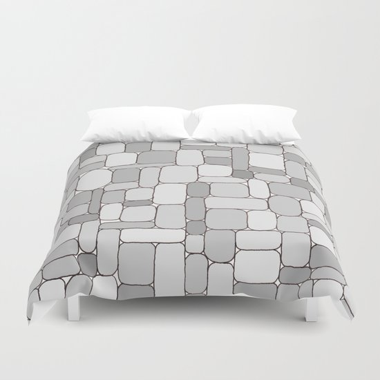 Stone Wall #4 - Grays Duvet Cover